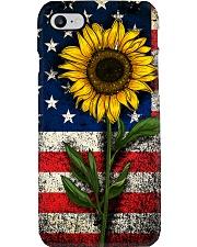 American Flag Sunflower Phone Case i-phone-7-case