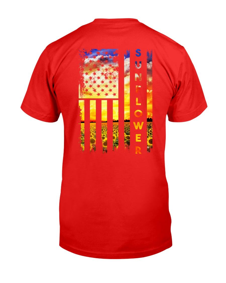 Sunflower American Flag Back No2 Classic T-Shirt