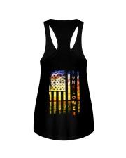 Sunflower American Flag Back No2 Ladies Flowy Tank thumbnail