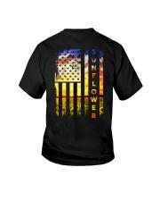 Sunflower American Flag Back No2 Youth T-Shirt thumbnail