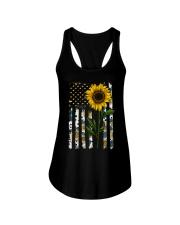 American Flag Sunflower Pattern Ladies Flowy Tank thumbnail