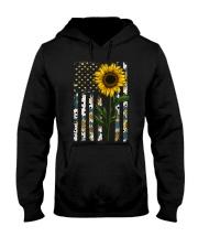 American Flag Sunflower Pattern Hooded Sweatshirt thumbnail