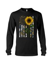 American Flag Sunflower Pattern Long Sleeve Tee thumbnail