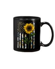 American Flag Sunflower Pattern Mug thumbnail