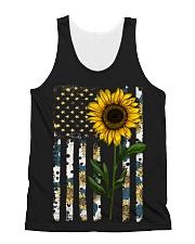 American Flag Sunflower Pattern All-over Unisex Tank thumbnail