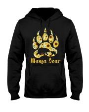 Mama Bear Sunflower Hooded Sweatshirt thumbnail