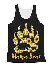 Mama Bear Sunflower All-over Unisex Tank thumbnail