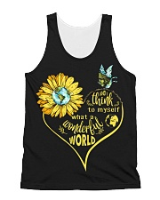 What A Wonderful World Sunflower Earth All-over Unisex Tank thumbnail