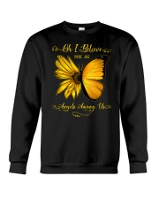 Oh I Believe There Are Angels Among Us Sunflower Crewneck Sweatshirt thumbnail