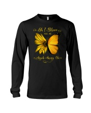 Oh I Believe There Are Angels Among Us Sunflower Long Sleeve Tee tile