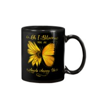 Oh I Believe There Are Angels Among Us Sunflower Mug tile