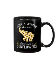 Just A Woman Who Loves Elephants And Sunflowers Mug thumbnail