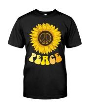 Peace Sunflower Classic T-Shirt front