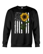 Betsy Ross American Flag Sunflower Crewneck Sweatshirt thumbnail
