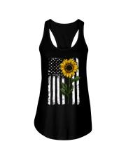 Betsy Ross American Flag Sunflower Ladies Flowy Tank thumbnail