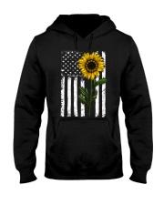 Betsy Ross American Flag Sunflower Hooded Sweatshirt thumbnail