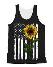 Betsy Ross American Flag Sunflower All-over Unisex Tank thumbnail