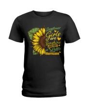 Sunflower Girls Are Sunshine Ladies T-Shirt thumbnail