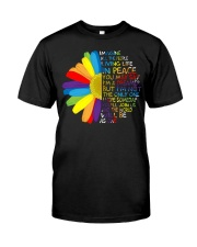 Imagine All The People Living Life In Peace Daisy Classic T-Shirt front