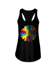 Imagine All The People Living Life In Peace Daisy Ladies Flowy Tank thumbnail