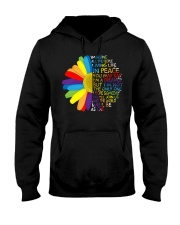 Imagine All The People Living Life In Peace Daisy Hooded Sweatshirt thumbnail