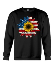 Sunflower American Flag Color Crewneck Sweatshirt thumbnail