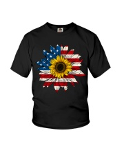 Sunflower American Flag Color Youth T-Shirt thumbnail