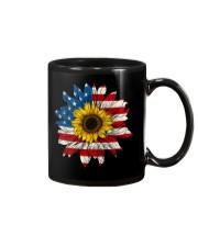 Sunflower American Flag Color Mug thumbnail