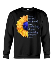 She Is Life Itself Wild And Wonderfully Chaotic Crewneck Sweatshirt thumbnail