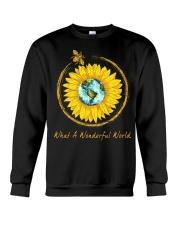 What A Wonderful World Sunflower Crewneck Sweatshirt thumbnail