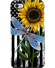 American Flag Sunflower Dragonfly Phone Case thumbnail