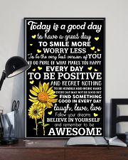 Today Is A Good Day Sunflower 16x24 Poster lifestyle-poster-2