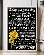 Today Is A Good Day Sunflower 16x24 Poster lifestyle-poster-4