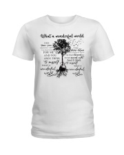 What A Wonderful World Ladies T-Shirt tile