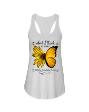 What A Wonderful World Sunflower Butterfly Ladies Flowy Tank thumbnail