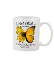 What A Wonderful World Sunflower Butterfly Mug thumbnail