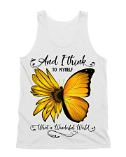 What A Wonderful World Sunflower Butterfly All-over Unisex Tank thumbnail