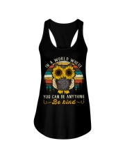 In A World Where You Can Be Anything Be Kind Ladies Flowy Tank thumbnail