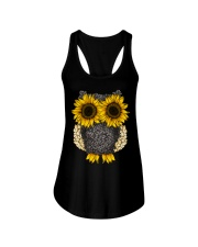 Sunflower Owl Ladies Flowy Tank thumbnail