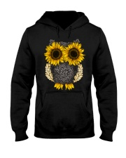 Sunflower Owl Hooded Sweatshirt thumbnail