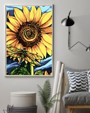 Dragonfly And Sunflower 16x24 Poster lifestyle-poster-1