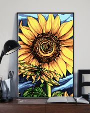 Dragonfly And Sunflower 16x24 Poster lifestyle-poster-2