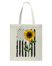 American Flag Sunflower Hippie Vintage Tote Bag thumbnail
