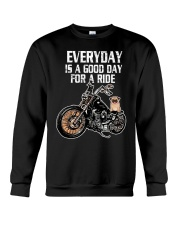 Every day is a good day for a RIDE - PUG Crewneck Sweatshirt thumbnail