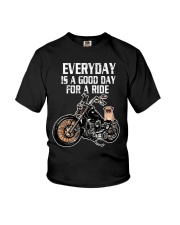 Every day is a good day for a RIDE - PUG Youth T-Shirt thumbnail
