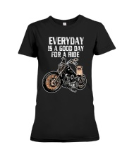Every day is a good day for a RIDE - PUG Premium Fit Ladies Tee thumbnail