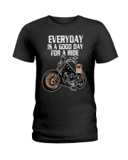 Every day is a good day for a RIDE - PUG Ladies T-Shirt thumbnail