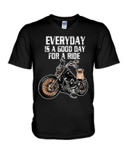 Every day is a good day for a RIDE - PUG V-Neck T-Shirt thumbnail