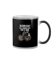 Every day is a good day for a RIDE - PUG Color Changing Mug thumbnail