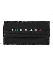 1 N 2 3 4 5 6 MOTORBIKE GEARS Cloth face mask front
